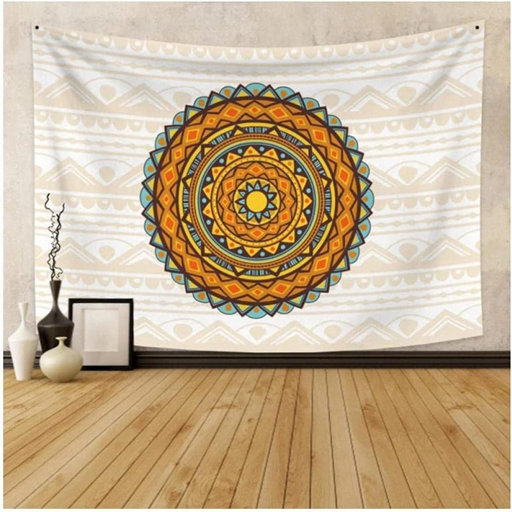 QJIAHQ New York Mall Colorful Mandala Lace Decorative Background Virginia Beach Mall Art Wall Clot