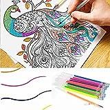 Festnight Dulces Colores Recargas Neon Glitter Pastel Art Pen Replacement Estudiantes Papelería Suministros