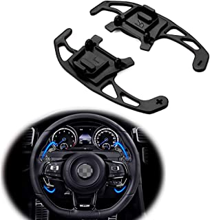 Miniclue DSG Shift Paddles Steering Wheel Shifters Replacement Kit For VW Volkswagen Golf MK7 GTI R R-line Scirocco 2014-2019 (Black)