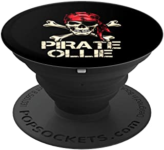 PIRATE OLLIE Funny Birthday Personalized Name Boat Fan Gift PopSockets Grip and Stand for Phones and Tablets