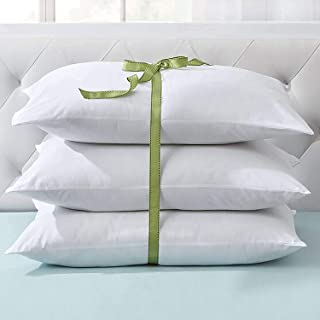 JY Hollow Microfibre Standard Luxury Bed Pillow for Sleeping (16x26 Inches, White) -Set of 3
