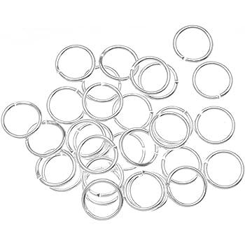 Silver BeadaholiqueCA 100-Piece Open Jump Rings 8mm
