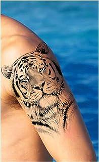 Qqinghan Afrika Lion Tijdelijke Tattoo Indian Tribal Mighty Lion Warrior Waterdichte Flash Tattoo Sticker Zwarte Mannen Vr...