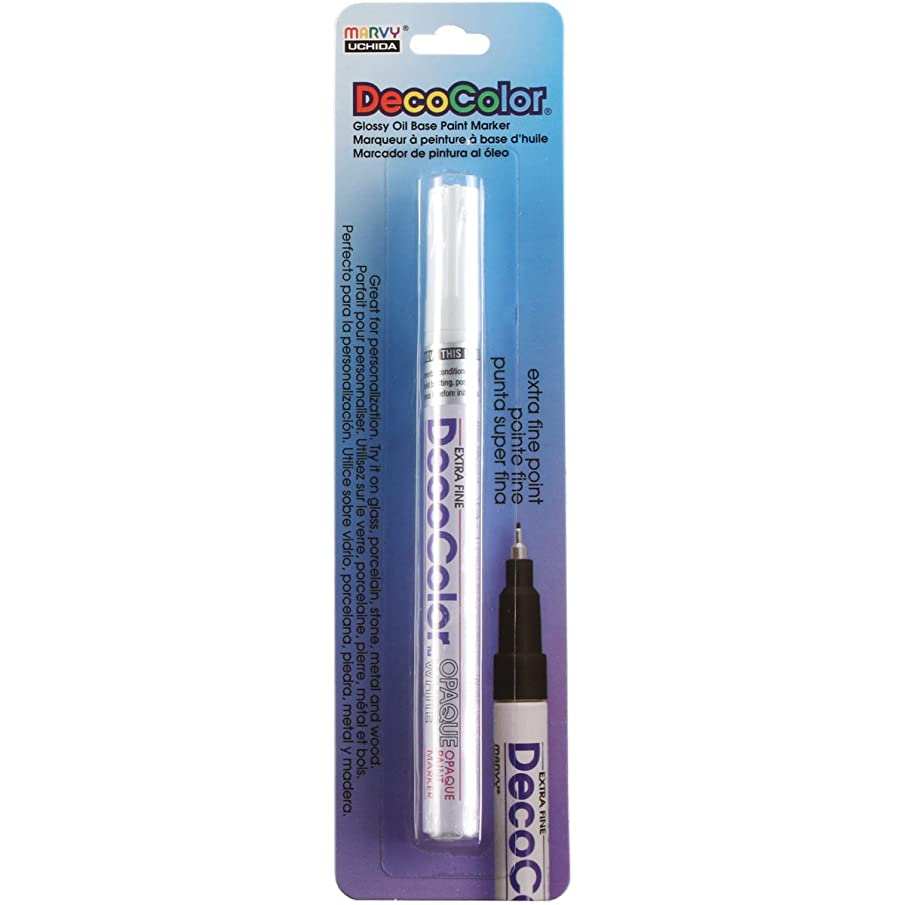 Uchida 130-C-0 Marvy Deco Color Extra Fine Opaque paint Marker, White
