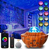 Galaxy Star Projector Night Light for Bedroom, Starry Sky Room Decor Light with Music Speaker, Remote App Control, Smart WiFi Voice Control, Work with Alexa, Google Assistant