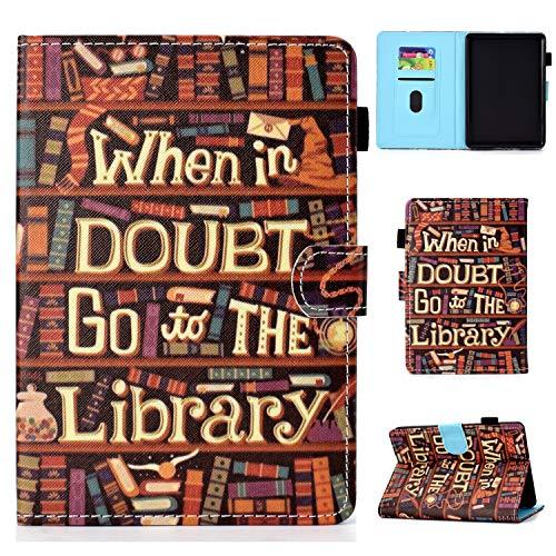 Tavoletta Custodia per Kindle Paperwhite 1 2 3 4 6.0 pollici Bookstyle, Flip Magnetica Cover Protettiva in Pelle Antiurto Supporto Colorata Tablet Case, Biblioteca