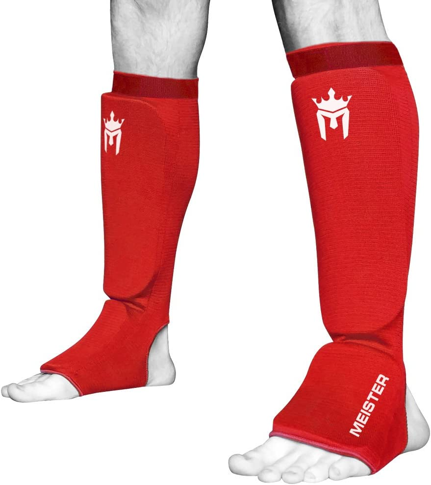 Meister MMA Elastic Save Max 61% OFF money Cloth Shin Instep Padded Pair Guards