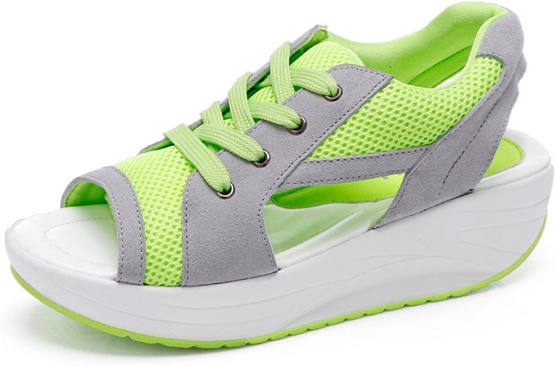 BeautyOriginal Women's Slip-on Fitness Mesh Sneaker Platform Work Out shoes Lightweight Walking shoes