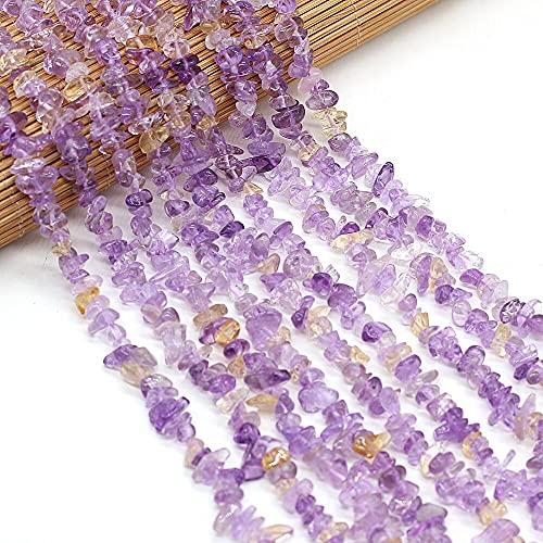 XIAOLONG Cuentas de fluoritas Naturales, Cuentas Sueltas de Piedra de ágatas Finas para Hacer Collar de joyería para Mujer, tamaño 3X5-4X6Mm, Longitud 40Cm