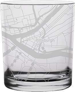 Pittsburgh City Map Whiskey Glass Pennsylvania