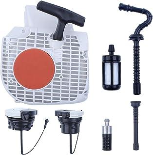 Haishine Juego de filtros de la línea de la Manguera de la Tapa del Tanque de Combustible del Motor de Arranque de Retroceso para STIHL MS210 MS230 MS250 MS 250 230 210 Repuestos de Motosierra
