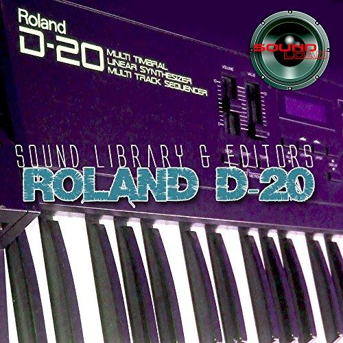 Roland D-20gran biblioteca de sonido original y editores en CD