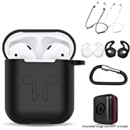 amasing AirPods Case 7 in 1 Airpods Accessories Kits Protective Silicone Cover for Airpod(front...