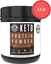 Keto Collagen Protein Powder Chocolate - 10g Grass-Fed Collagen, 5g MCT Powder| 1lb, 25 Servings, No Carb Protein Powder, Low Carb Meal Replacement Shakes, Ketogenic Shake Mix | Left Coast Performance