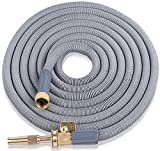Expandable Garden Hose 75 Ft. Long | Heavy Duty Water Hose | Retractable Hose for Gardening Car Wash RV Motorhome Camper Accessories Flexible Kink Marine Hose | Portable Water Hose