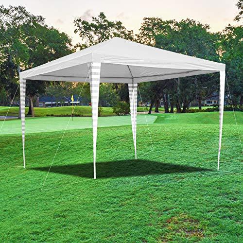 wolketon Carpas 3x3 m Gazebo Impermeables, Pergola Cenador Camping Cenadores, Protección UV 50+, Carpas de Jardin Pabellón para Exteriores/Playa/Fiestas, Blanco