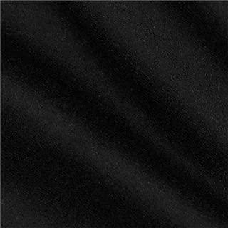 TELIO Wool Blend Melton Fabric by The Yard, Black