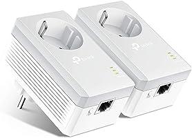 TP-Link TL-PA4010P Kit Powerline con enchufe adicional, AV 600 Mbps en Powerline, 1 puerto ethernet, homeplug AV, sin...