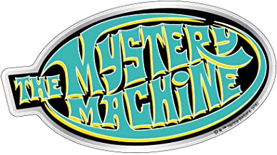 Fan Emblems Mystery Machine Logo Car Decal Domed/Multicolor/Chrome Finish, Scooby Doo Automotive Sticker Decal Badge Easily Applies to Cars, Trucks, Motorcycles, Laptops, Cellphones, Almost Anything