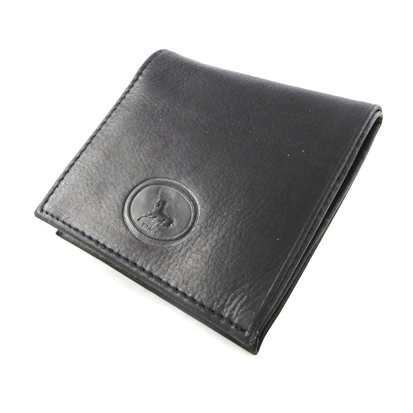 お肉下葉を拾うFrandi [H6766] - Porte-monnaie Cuir 'Frandi' noir authentique