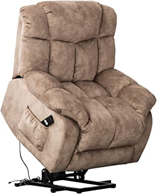 CANMOV Power Lift Recliner Chair for Elderly- Heavy Duty and Safety Motion Reclining Mechanism-Antiskid Fabric Sofa Living Ro