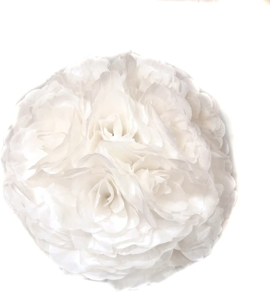 White flowers and perlee decorative ball