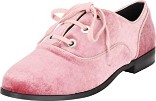 Cambridge Select Women's Round Toe Lace-Up Low Heel Oxford