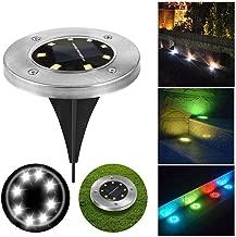 Kindsells Outdoor Solar Lawn Light Waterproof Garden Decorative Light 8 LEDs Step Lights