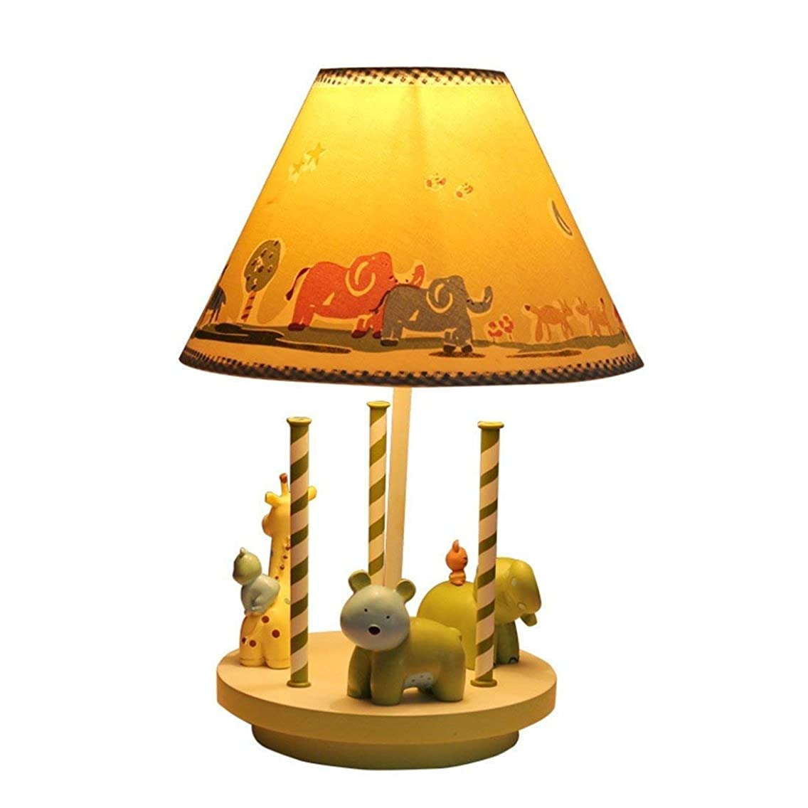 Creative Cartoon Warm Cute Adjustable Lamp Carousel Decoration Reading Gift Children's Room Bedroom Bedside Lamp Desk Lamps
