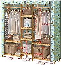 Râteliers multi-usages Manteau Porte-Manteau Nan Bambou Garde-Robe Moderne Chambre penderie Rack Sac de Rangement Rack Cas...