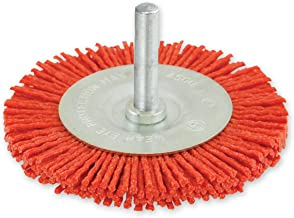 IVY Classic 39204 3-Inch x 1/4-Inch Hex Power Shank, Nylon Abrasive Wheel Brush - Coarse 80 Grit, 1/Card