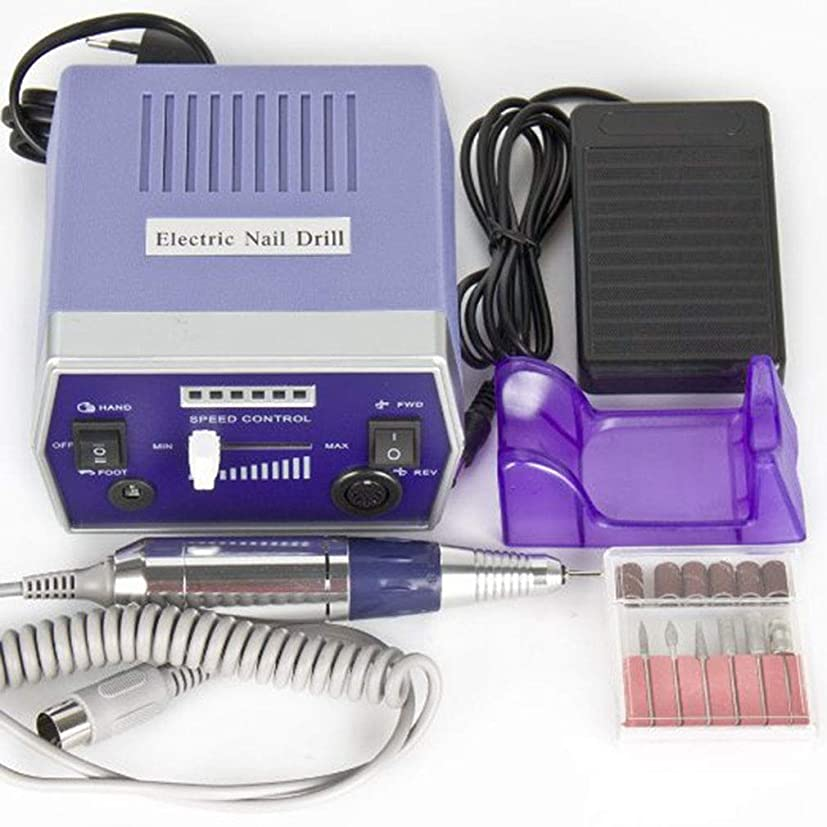 コール生産的うつ電気ネイルドリルマシンネイルファイルドリルセットキット用アクリルネイル、ジェルネイル、ネイルアートポリッシャーセットファーストマニキュアペディキュア,Blue