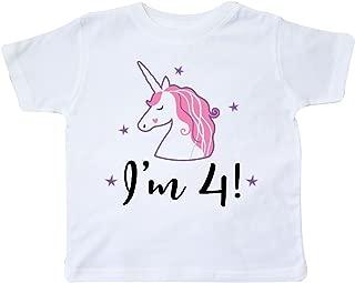 4th Birthday Cute Unicorn Toddler T-Shirt