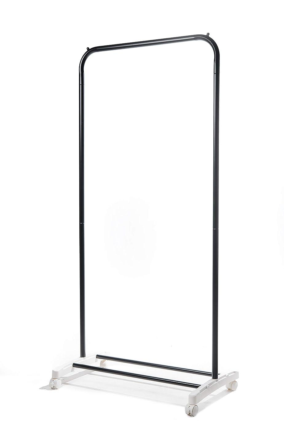 ベール保有者反論者LEJUE ハンガーラック シングル 幅70 x 奥行42.5 x 高さ150cm (黒)