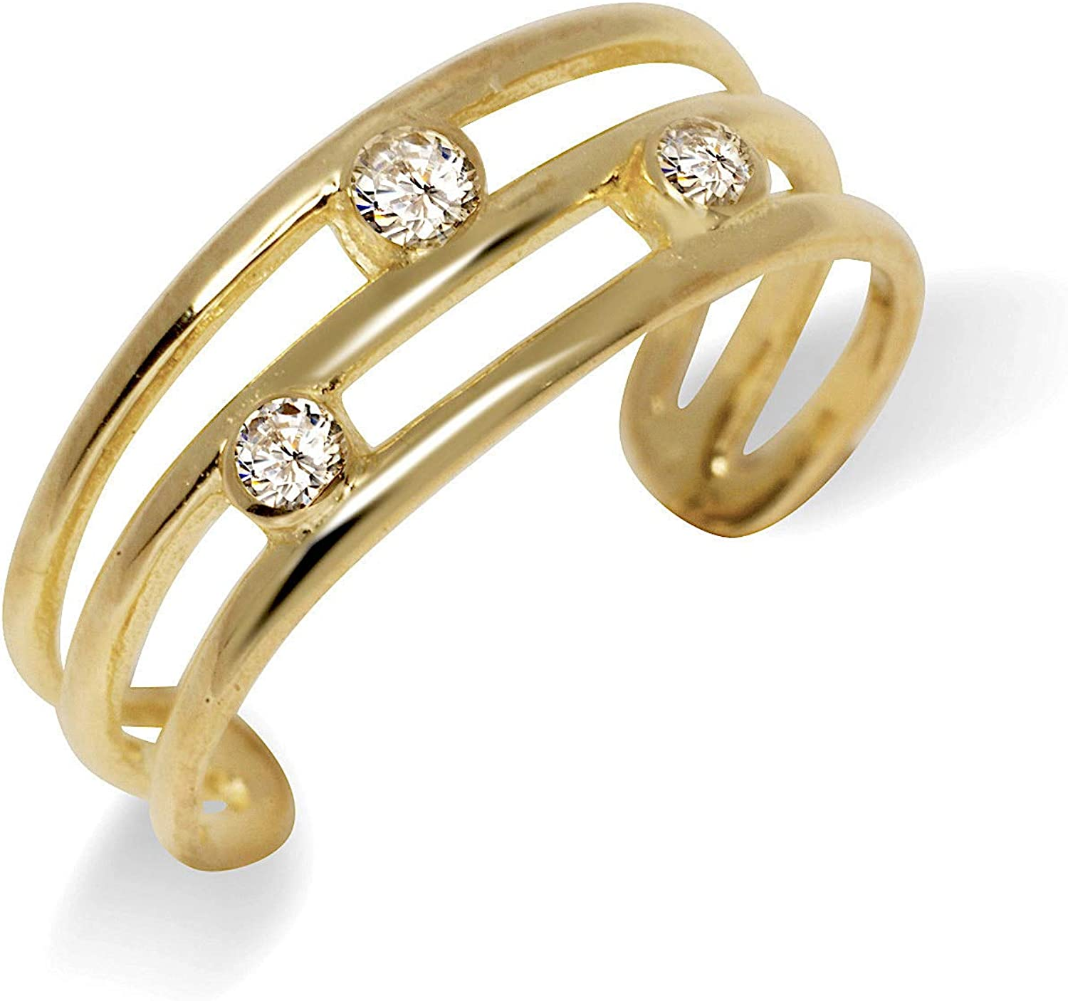JewelryWeb Solid 10K Yellow Fixed price for sale or White B Three Adjustable Sales results No. 1 Row Gold