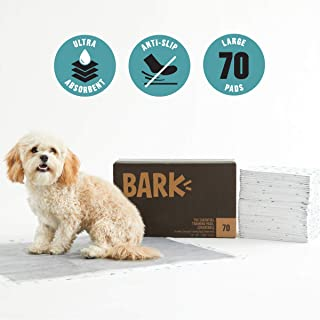 BarkBox Odorless Puppy Pads; Activated Carbon Charcoal; Ultra-Absorbent; Free Training Guide; Pheromone Attractant; Quick Dry; 3 Sizes