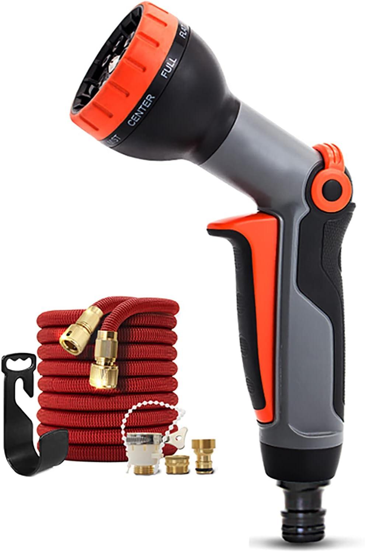 DLGF Garden Superlatite Hose Nozzle 9 Adjustable Slip Re List price Patterns Watering