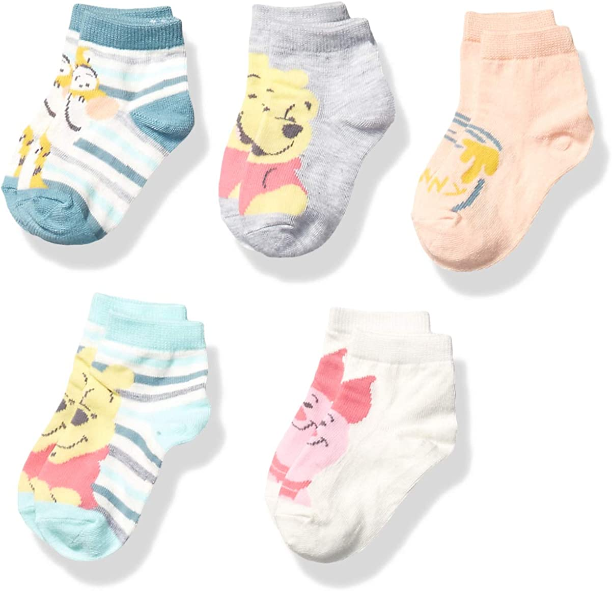 Winnie the Pooh Baby 5 Pack Shorty Socks