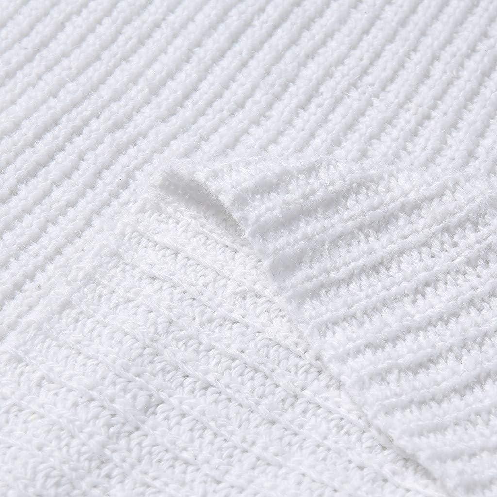 Lulupi Strickpullover Damen Rollkragen Pulloverkleid Strickkleid Stehkragen Pullover Lang, Longpullover Minikleid Herbst Winter Langarm Feinstrick Kleid Weiß