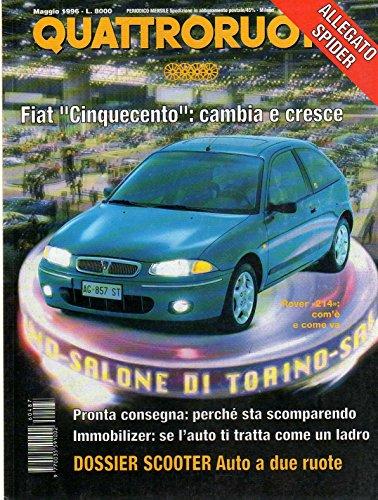 Quattroruote 487 maggio 1996 Prova Rover 214 Si - BMW Z31.8 e 1.9 16V