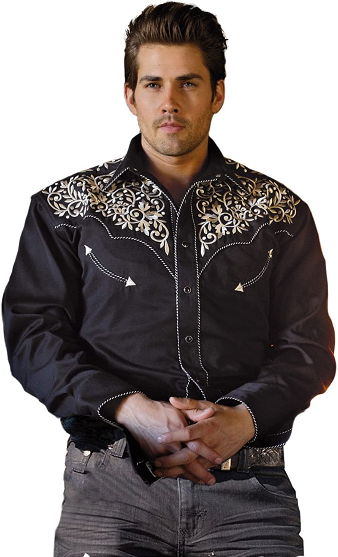 "STARS & & & STRIPES Cowboyhemd Westernhemd ""Henry  Bestickt schwarz Gr. S bis 3XL B00XPLUDBC  Hohe Sicherheit cc96a4"