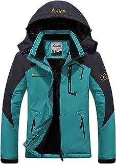 LANBAOSI Women's Snow Waterproof Ski Jacket Warm Fleece Lined Detachable Hood Winter Jacket Outdoor Windproof Coat