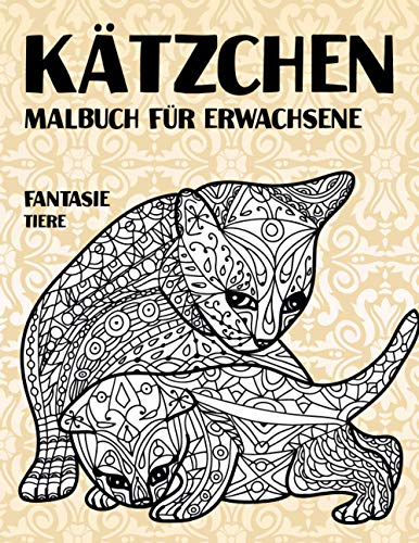 Malbuch für Erwachsene - Tiere - Fantasie - Kätzchen