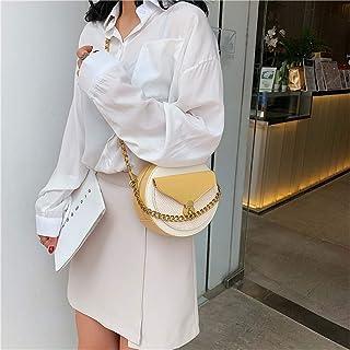 ZZZ One-shoulder Bag Women Fashion Trend Korean Version Of The Foreign Trade Wild Wholesale Chain Portable Fresh Messenger Bag fashion (Color : Yellow)