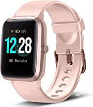 "$38 » LETSCOM Smart Watch Fitness Tracker Heart Rate Monitor Step Calorie Counter Sleep Monitor Music Control IP68 Water Resistant 1.3"" Color Touch Screen Activity Tracking Pedometer for Women Men"