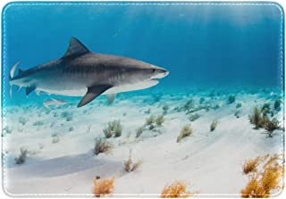Cooper girl Sea Tiger Shark Passport Cover Holder Case Leather Protector for Men Women Kid