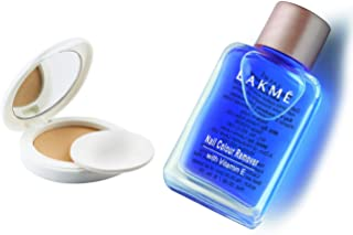 Lakme Perfect Radiance Compact, Ivory Fair 01, 8g & Lakmé Nail Color Remover, 27ml