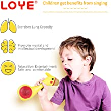 LOYE Wireless Bluetooth Karaoke Microphone Magic Sound for Kids Toddles Baby Child Children 2 in 1 Portable Handheld Home Party Speaker with TF Card Birthday New Year