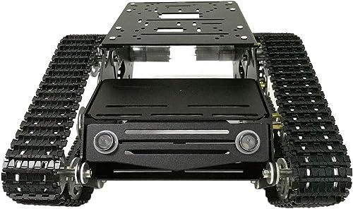 F Fityle Y100 Roboter Tankwagen Chassis Ersatz Mechanische Struktur Roboter 9V DIY Kit