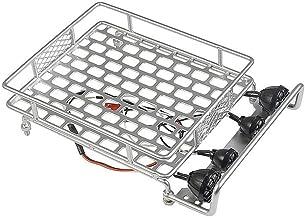 KKmoon Rack de bagageiro de tejadilho com barra de luz para 1/10 Monster Truck RC Crawler de carro axial SCX10 90046 D90 T...